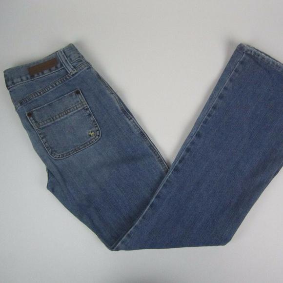 Abercrombie & Fitch Denim - Abercrombie & Fitch Bootcut Rectangle Patch Pocket